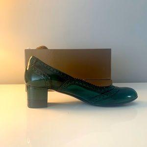 Gucci Dark Green Patent Leather Pumps size EU 38